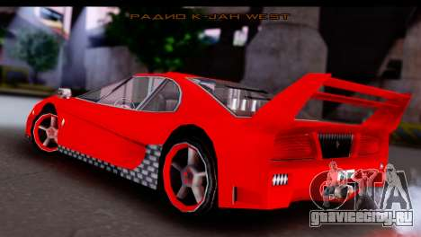 Turismo Pro X для GTA San Andreas вид слева