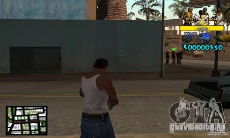 Tawer Getto HUD для GTA San Andreas