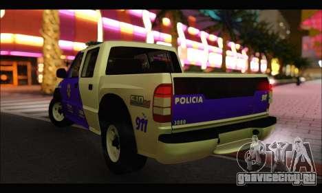 Chevrolet S-10 Policia de Santa Fe для GTA San Andreas вид слева