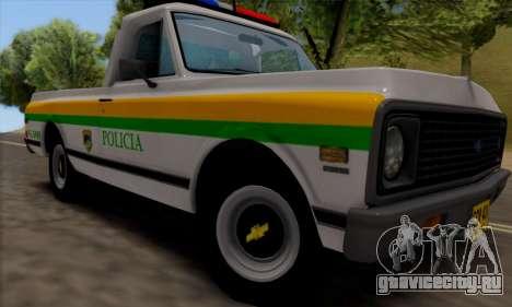 Chevrolet C10 1972 Policia для GTA San Andreas вид сзади слева