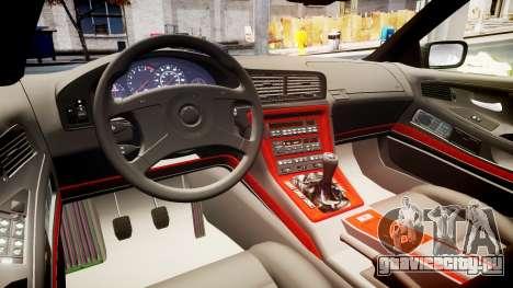 BMW E31 850CSi 1995 [EPM] Castrol White для GTA 4 вид изнутри