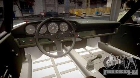 Porsche 911 Carrera RSR 3.0 1974 PJ53 для GTA 4 вид изнутри