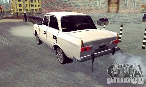 Москвич 412 White Swallow для GTA San Andreas вид сзади