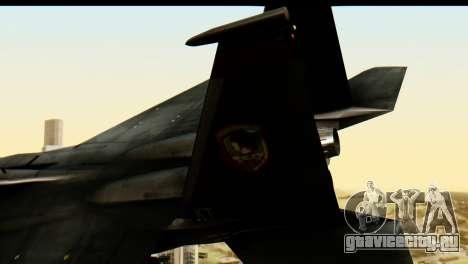 F-15 Razgriz для GTA San Andreas вид сзади слева