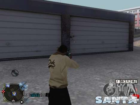 C-HUD Santa для GTA San Andreas