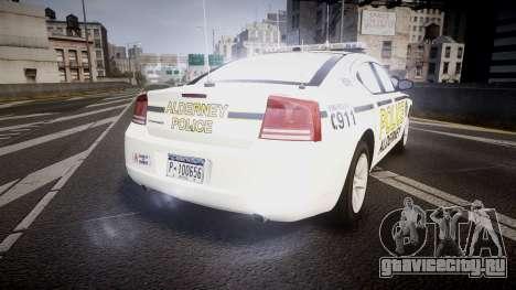 Dodge Charger 2006 Alderney Police [ELS] для GTA 4 вид сзади слева