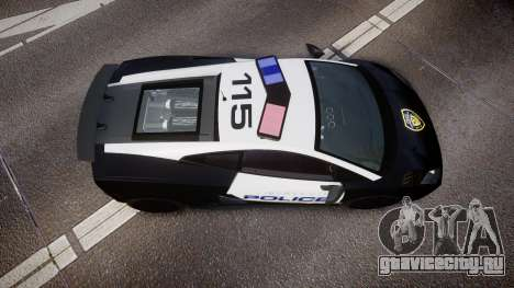 Lamborghini Gallardo LP570-4 LCPD [ELS] для GTA 4 вид справа
