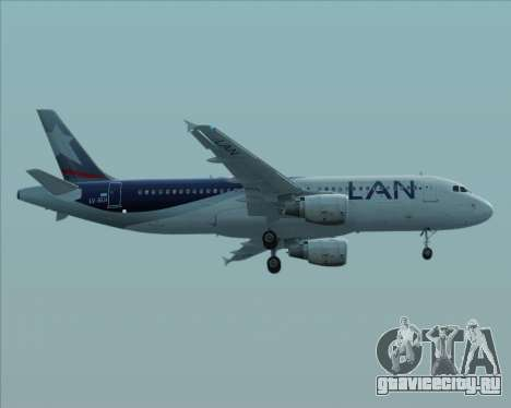 Airbus A320-200 LAN Argentina для GTA San Andreas вид сзади слева