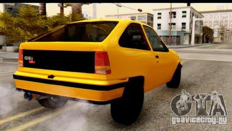 Opel Kadett GSI Drag 2015 для GTA San Andreas вид слева