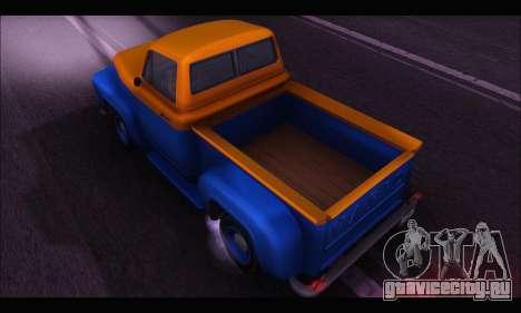 Vapid Slamvan (GTA V) для GTA San Andreas вид сзади слева
