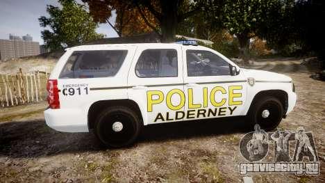 Chevrolet Tahoe 2010 Police Alderney [ELS] для GTA 4 вид слева