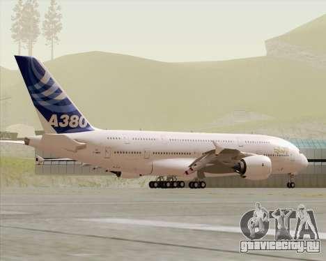 Airbus A380-800 F-WWDD Etihad Titles для GTA San Andreas вид сверху