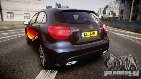 Mersedes-Benz A45 AMG PJs1 для GTA 4 вид сзади слева