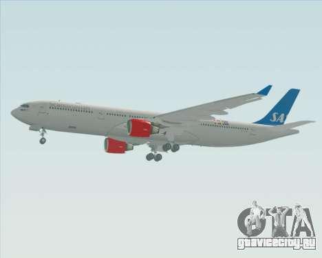 Airbus A330-300 Scandinavian Airlines для GTA San Andreas вид сзади слева