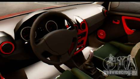 Dacia Logan MXP для GTA San Andreas вид справа