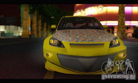 Mazda Speed 3 Tuning для GTA San Andreas вид слева