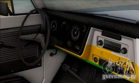 Chevrolet C10 1972 Policia для GTA San Andreas вид справа