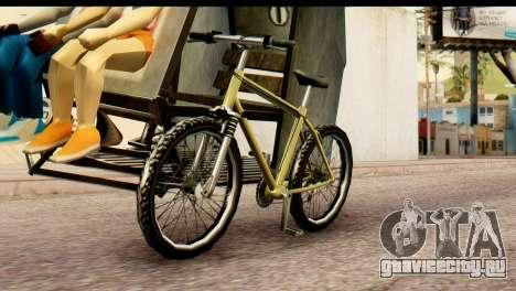Pedicab Philippines для GTA San Andreas вид сзади слева
