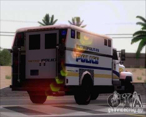 Enforcer Metropolitan Police для GTA San Andreas вид сбоку