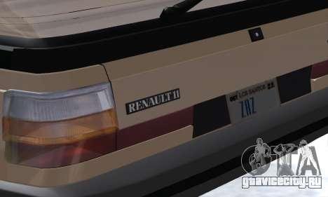 Renault 11 Turbo Phase I 1984 для GTA San Andreas вид сверху