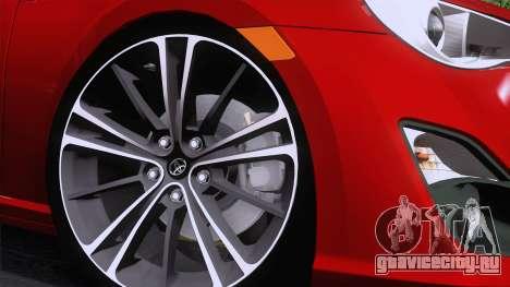 Toyota GT86 (ZN6) 2012 для GTA San Andreas вид сзади