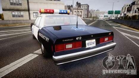 Chevrolet Impala 1985 LCPD [ELS] для GTA 4 вид сзади слева