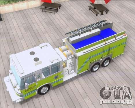 Pierce Quantum Miami Dade FD Tanker 6 для GTA San Andreas вид сзади