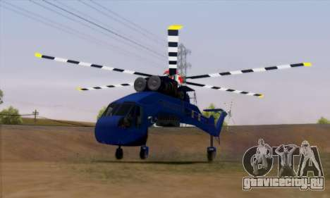 Skylift from GTA IV TBOGT для GTA San Andreas вид сзади слева