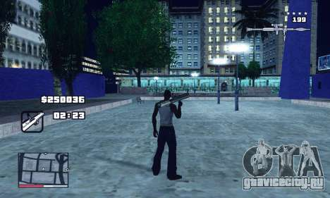C-HUD GTA 4 with Map для GTA San Andreas
