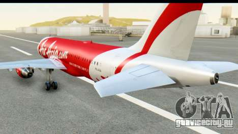 Airbus A320-200 Indonesia AirAsia для GTA San Andreas вид слева
