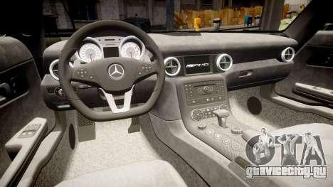 Mersedes-Benz SLS AMG 2010 для GTA 4 вид сбоку