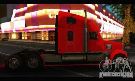 Freightliner Coronado v.2 для GTA San Andreas вид сзади слева