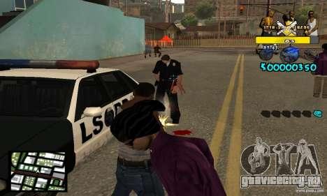 Tawer Getto HUD для GTA San Andreas третий скриншот