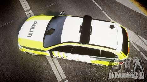 BMW 530d F11 Norwegian Police [ELS] для GTA 4 вид справа