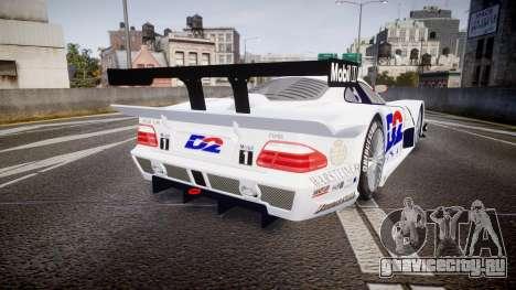 Mercedes-Benz CLK LM 1998 PJ1 для GTA 4 вид сзади слева