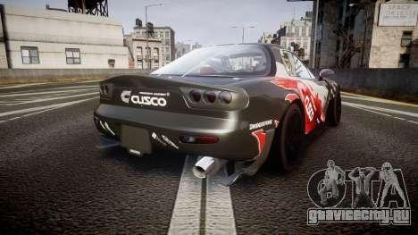 Mazda RX-7 для GTA 4 вид сзади слева