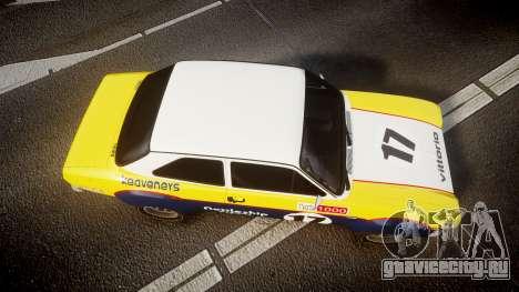 Ford Escort RS1600 PJ17 для GTA 4 вид справа
