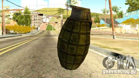 Grenade from Global Ops: Commando Libya для GTA San Andreas второй скриншот
