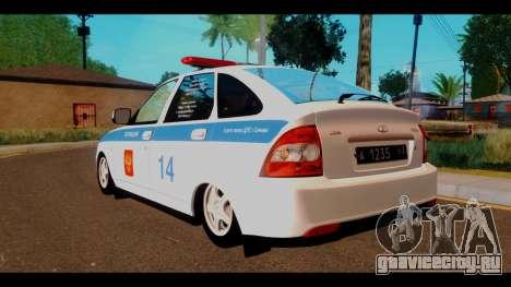 ВАЗ 2172 Police для GTA San Andreas вид слева
