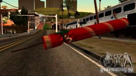 New Year Rifle для GTA San Andreas второй скриншот
