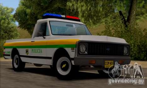 Chevrolet C10 1972 Policia для GTA San Andreas