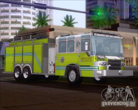 Pierce Quantum Miami Dade FD Tanker 6 для GTA San Andreas