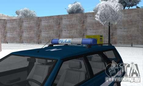 Daewoo-FSO Polonez Kombi 1.6 GSI Police 2000 для GTA San Andreas двигатель