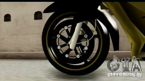 Yamaha F1ZR Stock для GTA San Andreas вид сзади слева