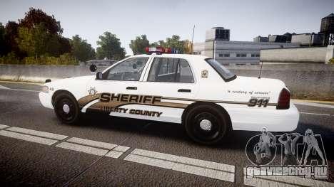 Ford Crown Victoria LCSO [ELS] Edge для GTA 4 вид слева