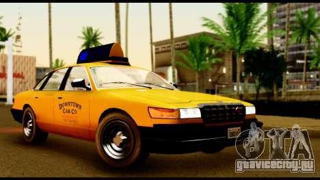GTA 4 Vapid Stanier Downtown Cab для GTA San Andreas вид слева