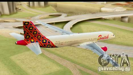Airbus A320 Batik Air для GTA San Andreas вид слева
