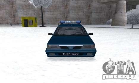 Daewoo-FSO Polonez Kombi 1.6 GSI Police 2000 для GTA San Andreas вид сзади