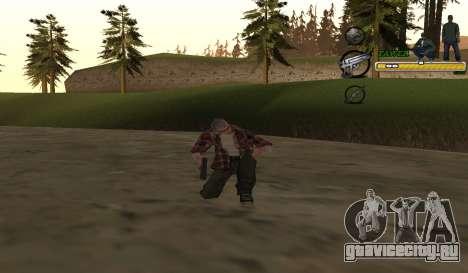 C-HUD TaweR Green для GTA San Andreas