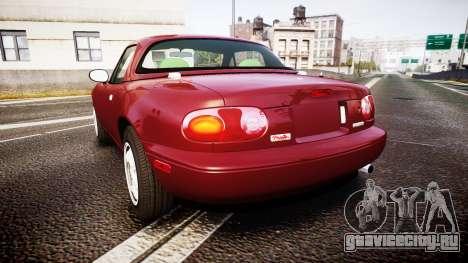 Mazda MX-5 Miata NA 1994 [EPM] для GTA 4 вид сзади слева